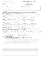 bài kiểm tra số 6 lớp 9