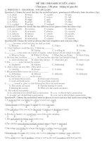 Bộ đề thi học sinh giỏi tiếng anh lớp 9   hay
