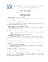 ĐỀ THI HSG SINH 10 CÁC TRƯỜNG CHUYÊN DUYÊN HẢI BẮC BỘ