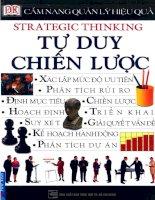 Cẩm nang quản lý hiệu quả   tư duy chiến lược