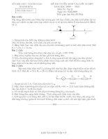 Đề thi & Đáp án (Vật lý) Tuyển sinh vào lớp 10 TH 2009 2010