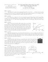 Đề thi HSG tỉnh môn Vật lý lớp 9 - tỉnh Phú Yên