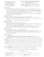 ĐỀ THI CHỌN HỌC SINH GIỎI TỈNH LỚP 12 NĂM HỌC 2012 – 2013 MÔN ĐỊA LÝ LỚP 12 THPT - SỞ GD&ĐT NGHỆ AN