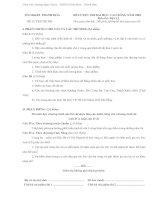 Đề và đáp án thi thử ĐH cực đỉnh