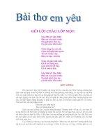 Bài thơ: Gửi lời chào lớp 1