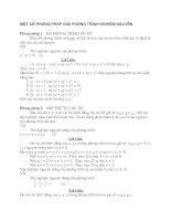 PP giải phương trình nghiệm nguyên