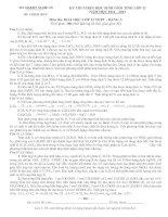 ĐỀ THI CHỌN HỌC SINH GIỎI TỈNH LỚP 12 NĂM HỌC 2011 – 2012 MÔN HÓA HỌC LỚP 12 THPT - SỞ GD&ĐT NGHỆ AN