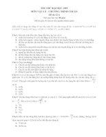 Đề và ĐA thi thử ĐH (Bài số 4) - Rất hay