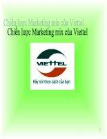 Bài thuyết trình môn marketing đề tài chiến lược marketing công ty viettel
