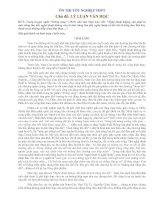 Ôn thi TN - Đề 3(Lý luận văn học)