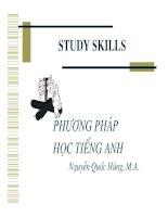Study skills   phương pháp học tiếng anh