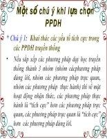 Một số lưu ý khi chọn PPDH