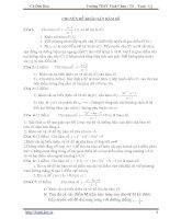 Bài tập chuyên đề khảo sát hàm số