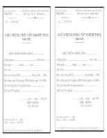 Mẫu giấy CN TN tạm thời chuẩn