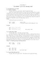 LÝ THUYẾT lập TRÌNH cơ bản (8051)  CHƯƠNG 7