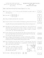 Đề kiểm tra tuyển sinh vào lớp 6 môn toán trường THPT chuyên Hà Nội Amsterdam