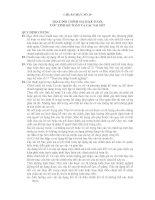 HỆ THỐNG CHUẨN MỰC KẾ TOÁN- CHUẨN MỰC SỐ 29- THAY ĐỔI CHÍNH SÁCH KẾ TOÁN, ƯỚC TÍNH KẾ TOÁN VÀ CÁC SAI SÓT