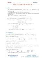 Tổng hợp kiến thức toán lớp 7