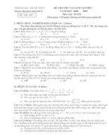 Các đề thi vào lớp 10 (mới nhất) có đáp án