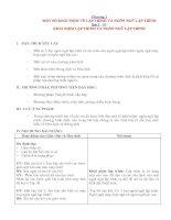 Giáo án Tin học 11