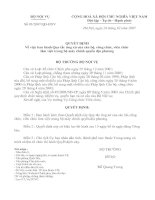 03/2007/QĐ-BNV Quy tắc ứng xử của cán bộ, công chức, viên chức...
