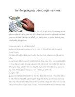 Tư vấn quảng cáo trên google adwords