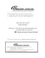 Bài giảng: Khảo sát sự biến thiên và vẽ đồ thị của một số hàm đa thức (Giải tích 12 - Chương I: ỨNG DỤNG ĐẠO HÀM ĐỂ KHẢO SÁT VÀ VẼ ĐỒ THỊ HÀM SỐ)