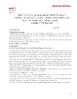 Giáo án THỂ DỤC 7 (trọn bộ)
