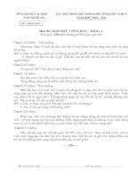 ĐỀ THI CHỌN HỌC SINH GIỎI TỈNH LỚP 9 THCS NĂM 2010-2011 MÔN GIÁO DỤC CÔNG DÂN - SỞ GIÁO DỤC VÀ ĐÀO TẠO NGHỆ AN
