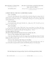 ĐỀ THI TUYỂN SINH CAO ĐẲNG NĂM 2013 MÔN LỊCH SỬ KHỐI C, CÓ ĐÁP ÁN