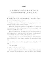 THỰC TRẠNG VỀ CÔNG TÁC QUẢN TRỊ NHÂN SỰ  TẠI CÔNG TY TNHH TM – DV HỒNG THẮNG