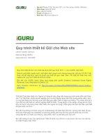 Quy trình thiết kế GUI cho web site
