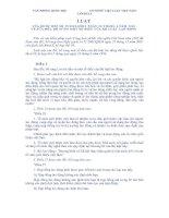 Luật sửa đổi, bổ sung một số Điều của Bộ Luật Lao động