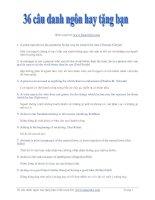 36 câu danh ngôn hay tặng bạn