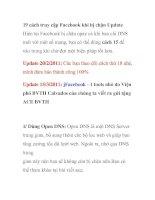 19 cách truy cập facebook khi bị chặn update  p1