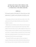 LUYỆN kỹ NĂNG VIẾT TIẾNG ANH 155  CHỦ đề VIẾT LUẬN TIẾNG ANH 8