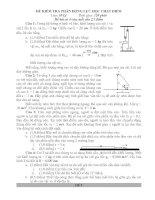bài tập Động lực học chất điểm