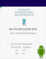 Đồ án nguyên lý hệ điều hành tìm hiểu về hệ điều hành android
