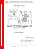 Báo cáo đào tạo theo phương pháp hướng dẫn về giải quyết khiếu nại của khách hàng
