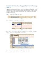Macromedia Flash - Tạo khung text có thanh cuốn trong Flash 8.0 - 1/6/2007 17h:31