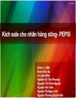 Kích sale cho nhãn hàng sting  PEPSI