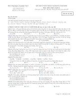 ĐỀ THI TUYỂN SINH CAO ĐẲNG NĂM 2010 Môn: HÓA HỌC; Khối A mã đề 268
