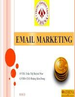 Báo cáo đề tài nghiên cứu, triển khai áp dụng kỹ thuật email marketing tại athena