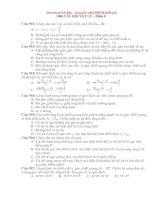 1000 câu hỏi trac nghiem VL ôn thi vào ĐHCĐ Phần 8.doc