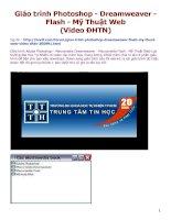 Giáo trình photoshop   dreamweaver   flash   mỹ thuật web (video ĐHTN)