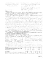KỲ THI CHỌN HỌC SINH GIỎI QUỐC GIA LỚP 12 THPT NĂM 2011 môn hóa học