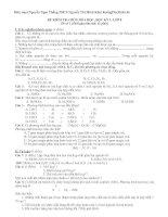 Trọn bộ đề kiểm tra hoá học 8