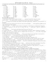 Bộ đề ôn thi vào lớp 10/08-09