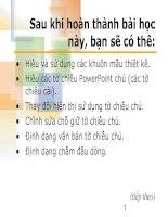 bài 4. Thêm và chỉnh sửa văn bản trong bản chiếu