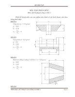 Bài tập phần đúc môn kỹ thuật gia công cơ khí